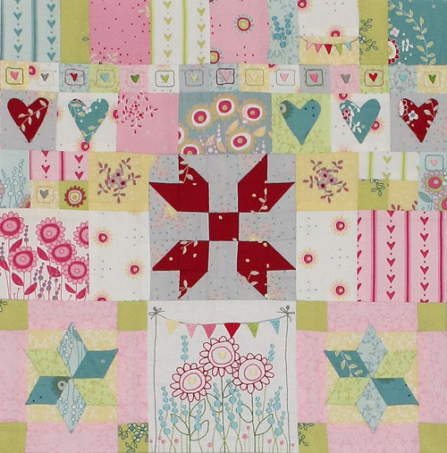 Hearts & Happy Flowers Block 2