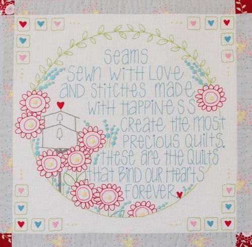 Hearts & Happy Flowers Block 5