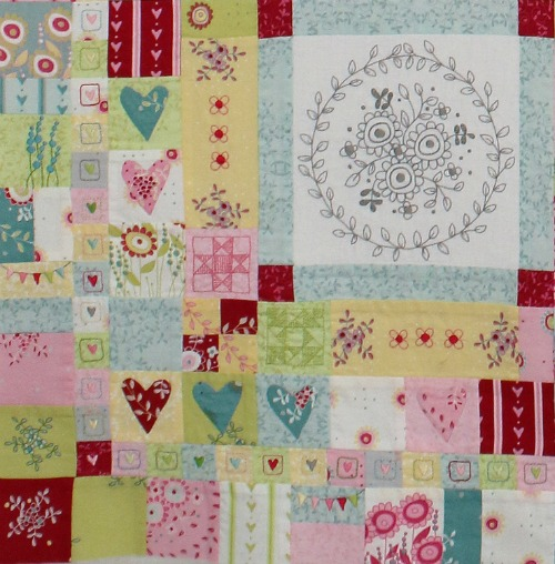 Hearts & Happy Flowers Block 7