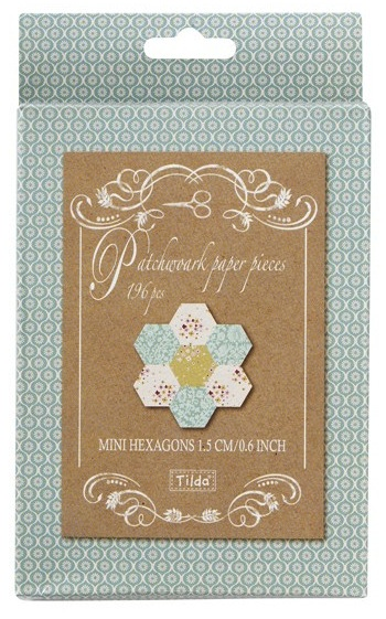 Mini Hexagon patchwork paper pieces