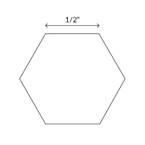 "English Paper Pieces 0.5"" Hexagon"