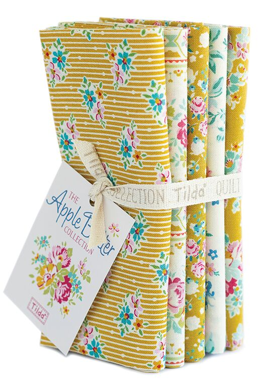 Apple Butter - Fat quarter bundle - Yellow/White