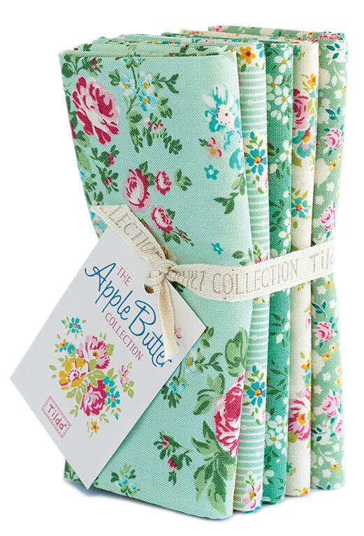 Apple Butter - Fat quarter bundle - Teal/Green