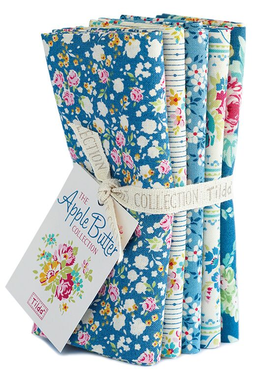 Apple Butter - Fat quarter bundle - Blue/White