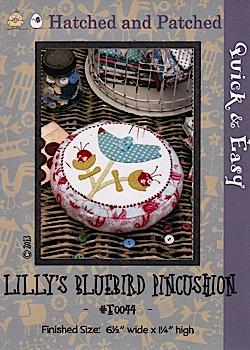 Lilly's Bluebird Pincushion