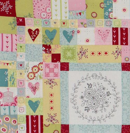 Hearts & Happy Flowers Block 1