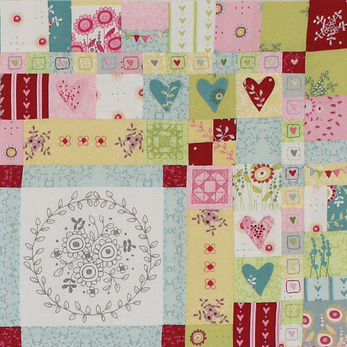 Hearts & Happy Flowers Block 3