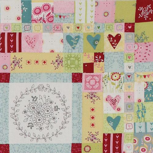 Hearts & Happy Flowers Block 3