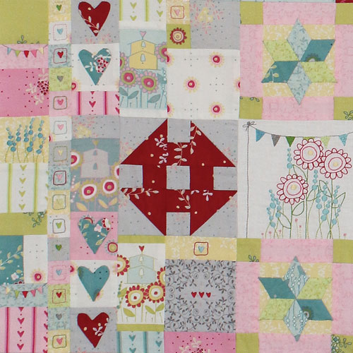 Hearts & Happy Flowers Block 4