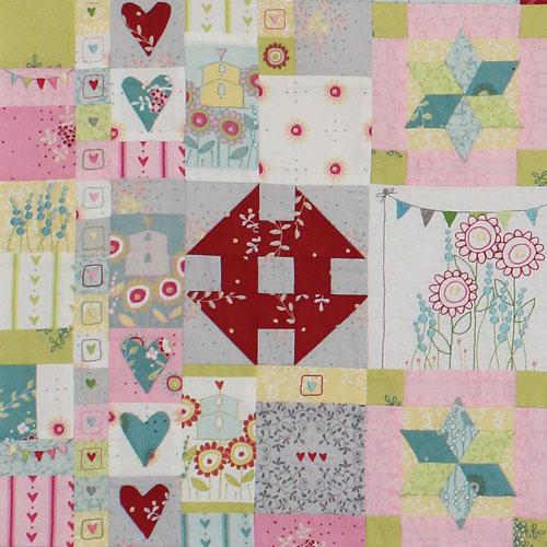 Hearts & Happy Flowers Block 4