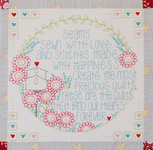 Hearts & Happy Flowers Block 5