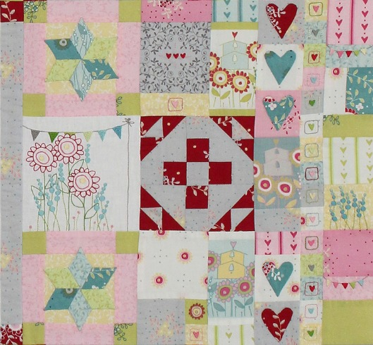 Hearts & Happy Flowers Block 6