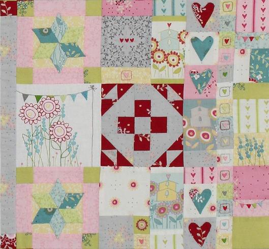 Hearts & Happy Flowers Block 6