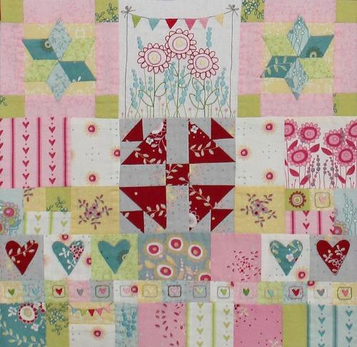 Hearts & Happy Flowers Block 8