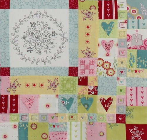 Hearts & Happy Flowers Block 9