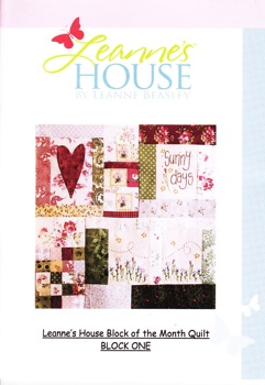 Leanne's House BOM Quilt - Block One