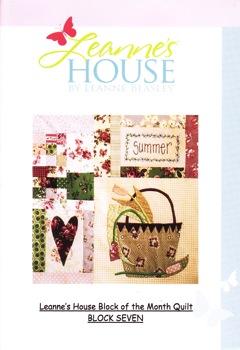 Leanne's House BOM Quilt - Block Seven