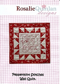 Peppermint Stitches Wall Quilt