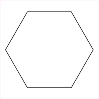 """Hexagon 1�"""" papers and template"""