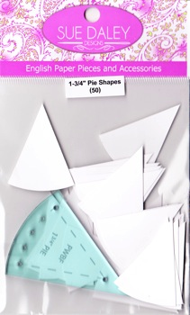 "Pie Shapes 1-3/4"" and template"