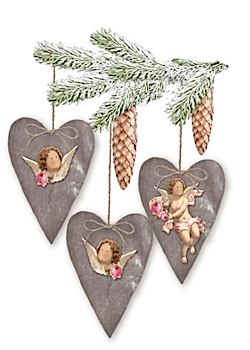 Vintage Velvet Angel Hearts Kit