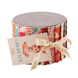 Cabbage Rose fabric roll