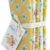 Apple Butter - Fat quarter bundle - Yellow/White